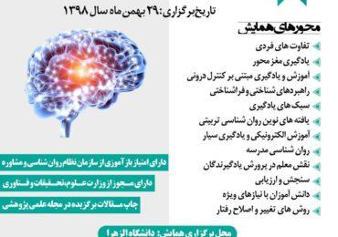 پذیرفته شدن مقاله آقای دکتر حسین ربوبی در چهارمین همایش ملی روان شناسی تربیتی شناختی
